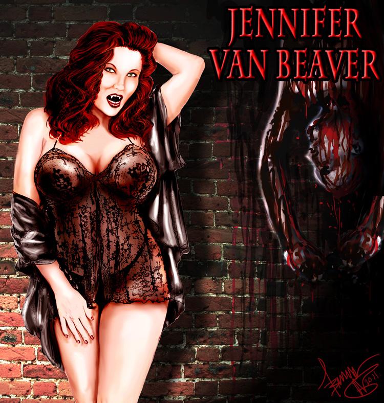 Jen Van Beaver Pin-Up